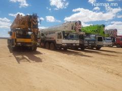 Автокран, шланз, цемент бааз, кран түрээсийн үйлчилгээ